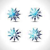 Vector snow flakes Stock Image