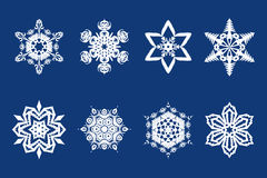 Vector snow flakes Stock Photos