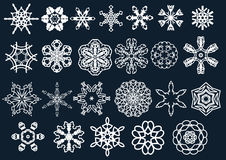 Vector snow flakes and stars Stock Photo