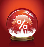 Vector snow globe. With in red color, vector illustration Stock Images