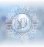 Vector snow globe with zodiac sign Virgo Royalty Free Stock Photo