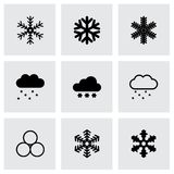 Vector snow icon set Stock Image