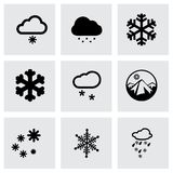 Vector snow icon set Royalty Free Stock Photography