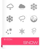 Vector snow icon set Royalty Free Stock Photo