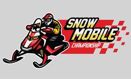 Snow mobile championship design. Vector of snow mobile championship design Stock Images