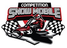 Snow mobile competition badge design. Vector of snow mobile competition badge design Royalty Free Stock Image