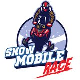 Snow mobile race design. Vector of snow mobile race design Royalty Free Stock Photography