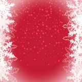 Vector Snow On Transparent Background, Holiday Greeting Card Template. Abstract Snowy Overlay. Vector Isolated Snowflakes. Stock Image