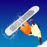 Vector snowborder illustration Stock Images