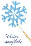 Vector  snowflake Royalty Free Stock Photography