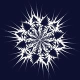 Vector snowflake royalty free illustration