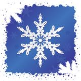 Vector. Snowflake Background Royalty Free Stock Image