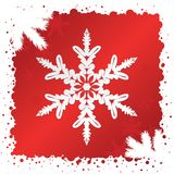 Vector. Snowflake Background Stock Images