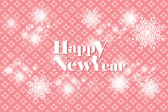 Vector snowflake background with happy new year - eps10 illustration Royalty Free Stock Photo