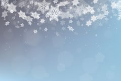 Vector snowflake Christmas background Royalty Free Stock Photography