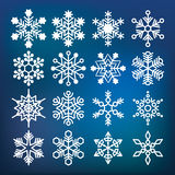 Vector snowflake collection Royalty Free Stock Photos
