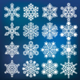 Vector snowflake collection Stock Images