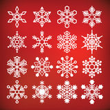 Vector snowflake collection Royalty Free Stock Photo