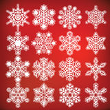 Vector snowflake collection Stock Image