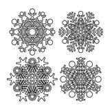 Vector snowflake collection Royalty Free Stock Photography
