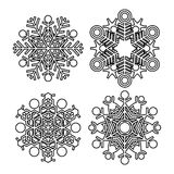 Vector snowflake collection Royalty Free Stock Image