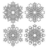 Vector snowflake collection Stock Photos