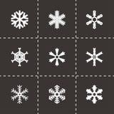 Vector snowflake icon set Royalty Free Stock Photos