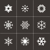 Vector snowflake icon set Stock Images