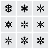 Vector snowflake icon set Royalty Free Stock Photo