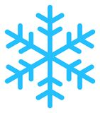 Vector Snowflake Icon stock illustration