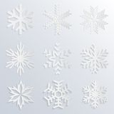 Vector snowflake icons Royalty Free Stock Photography