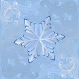 Vector snowflake. Stock Photo