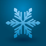 Vector snowflake. Vector illustration with snowflake and shadow on blue background Stock Images
