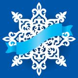 Vector snowflake laser cut template. Cutout pattern of Christmas or New Year decoration. Background illustration for. Banner, greeting card and other holiday stock illustration