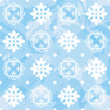 Vector Snowflake Seamless Pattern Royalty Free Stock Photos