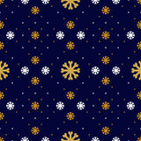 Vector snowflake seamless pattern. Winter holiday background, line snowflakes icons Royalty Free Stock Photography