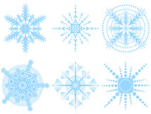 Vector snowflakes 2 Royalty Free Stock Images
