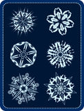 Vector snowflakes 2 vector illustration