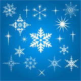 Vector Snowflakes Royalty Free Stock Photo