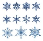 Vector snowflakes royalty free illustration