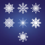 Vector snowflakes Stock Photography