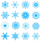 Vector snowflakes. Blue vector snowflakes set 1 Royalty Free Stock Images