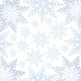 Vector snowflakes background Stock Image