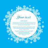 Vector. Snowflakes on a blue background with place Royalty Free Stock Photography