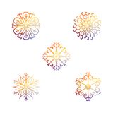 Vector snowflakes. Christmas and new year design Royalty Free Stock Photos