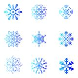 Vector snowflakes. Christmas and new year design Stock Image