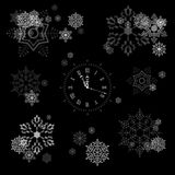 Vector Snowflakes Collection Royalty Free Stock Images