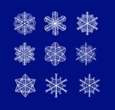 Vector snowflakes. Eps 10 vector set of beautiful sketch snowflakes for your Christmas design Royalty Free Stock Image