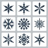 Vector snowflakes icons set Royalty Free Stock Image