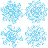 Vector snowflakes illustration Royalty Free Stock Photography